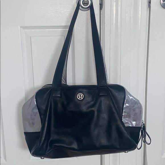 LULULEMON BLACK & SILVER GYM BAG- Laundry bag too!